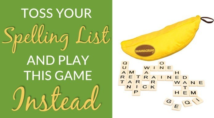 Bananagrams game review to teach spelling
