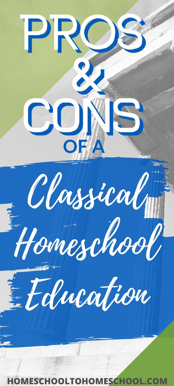 Learn what a classical education is and if it's a good fit for your homeschool. And there are lots of things to love. | homeschool classical curriculum | well-trained mind | classical education ideas | how to teach classical education | homeschool classical curriculum | Classical Education |