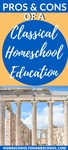 Classical education is a very rigorous type of education that follows the Greek Socratic method. It lays a phenomenal ground work for kids to pull information together and really become thinkers.   homeschool classical curriculum   well-trained mind   classical education ideas   how to teach classical education   homeschool classical curriculum   Classical Education  