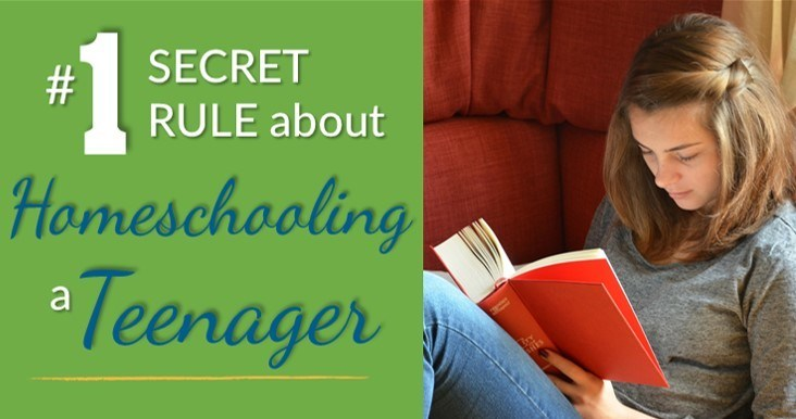#1 Secret Rule about Homeschooling a Teenager