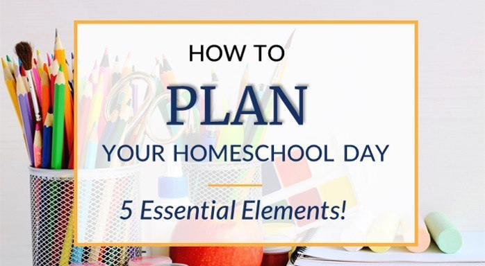 Homeschool daily schedule plan include