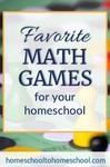 Best math games for kids for homeschool