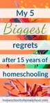 Ever wonder what longtime homeschool moms wish they could change? Here are my top 5 homeschool regrets and what I would do differently. Let me shave years off your learning curve. I'm so glad I didn't quit before I figured these out. | how to start homeschooling | want to quit homeschooling |