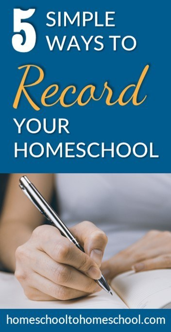 5 simple ways to do homeschool record keeping
