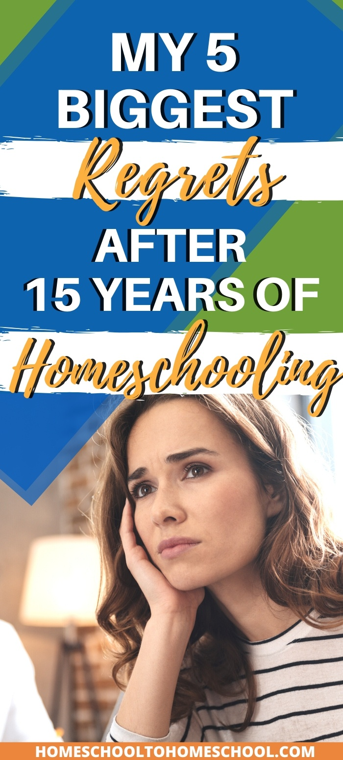 A list of homeschool regrets and solutions to inspire homeschooling Moms and help you avoid the same frustrating mistakes. | mom guilt | Homeschool struggles | I want to homeschool | homeschool regrets | Frustrated homeschool |