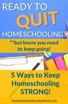 When you don't WANT to homeschool anymore (But think you still should!)