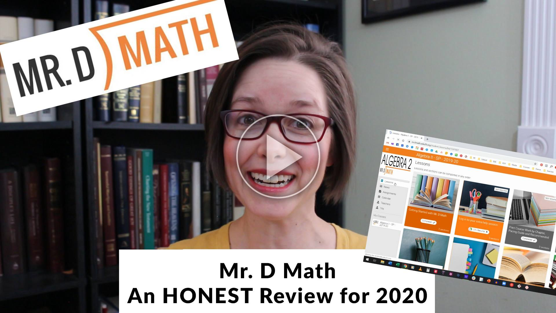 Math curriculum can be too dry and boring, too repetitive, and super tedious.  But not Mr. D Math.  It walks my kids step-by-step through what they need to know at a pace that actually works for them. Oh, how I am in love!  | Online math | Algebra | Homeschool math | High school Math| Mr. D Math | Curriculum