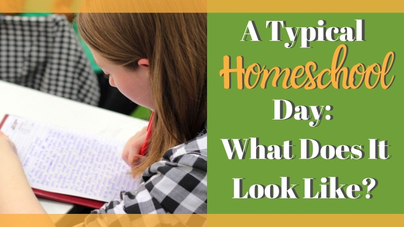"There are ways to put together a homeschool schedule that works. And you can do it without losing the flexibility that homeschool offers AND requires. Today I'm sharing what a ""typical"" homeschool day looks like. 