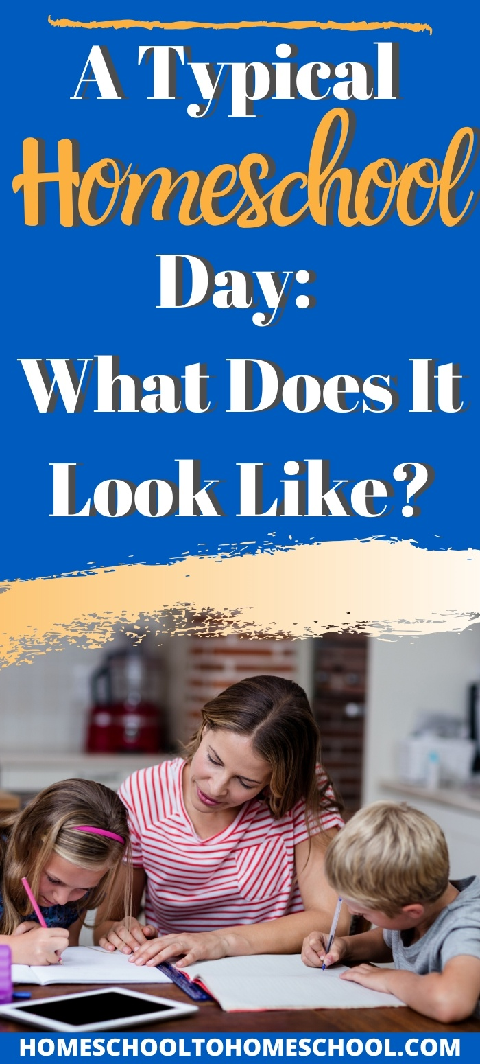 "A ""typical"" homeschool day? There really ISN'T one. And I talk about that right off … and then I talk about what you can expect instead. And THAT applies right now when nothing is ""typical."" 