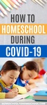 Most likely, this pin isn't for you ... it's for your public-school-turned-homeschool-mom friend (or sister or neighbor or even Facebook friend). Here's a quick guide to homeschooling during the coronavirus outbreak and quarantine. | School Closed | Short Term homeschooling | School at home | Emergency homeschool | Temporary Homeschool | Quarantine | Covid 19 | Coronavirus |