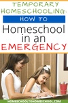 You're doing something you've never done before. It's normal to feel overwhelmed and possibly scared. Here's a quick guide to homeschooling during the coronavirus outbreak and quarantine. | School Closed | Short Term homeschooling | School at home | Emergency homeschool | Temporary Homeschool | Quarantine | Covid 19 | Coronavirus |