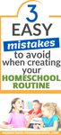 As a new homeschool mom, creating a homeschool schedule and a homeschool routine can feel a little overwhelming. There are so many easy mistakes to make. And a successful homeschool routine takes into account 3 simple principles, let's dig in and talk about all three of those. | Homeschool Routine | Homeschool Mistakes | Homeschool Schedule | Perfectionism Homeschool | What is the best way to homeschool your child |