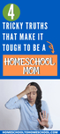 Is homeschooling hard? I'm not going to lie … it is hard. And anyone who tells you differently isn't telling the truth. It's also wonderful, glorious, delightful and exciting. | hard truths about homeschooling | Is homeschooling hard | Is homeschooling worth it | homeschool truths | Disadvantages | Is it difficult to homeschool |