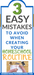 Creating a homeschool routine and a homeschool schedule can feel like an overwhelming task. I've made the classic homeschool mistake of trying to overschedule and do too much. What does a successful homeschool REALLY look like? | Homeschool Routine | Homeschool Mistakes | Homeschool Schedule | Perfectionism Homeschool | What is the best way to homeschool your child |